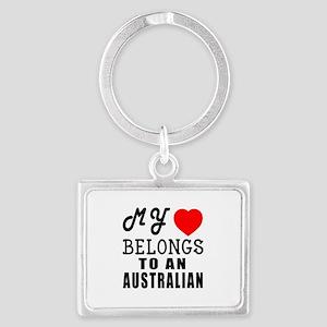 I Love Australian Landscape Keychain
