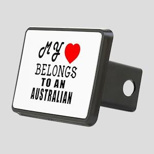 I Love Australian Rectangular Hitch Cover