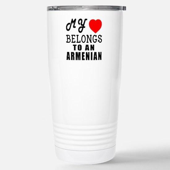 I Love Armenian Stainless Steel Travel Mug
