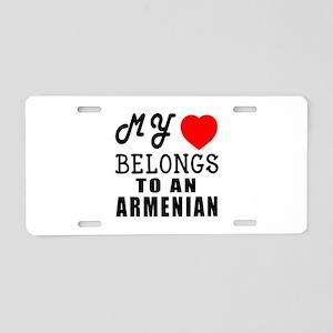 I Love Armenian Aluminum License Plate