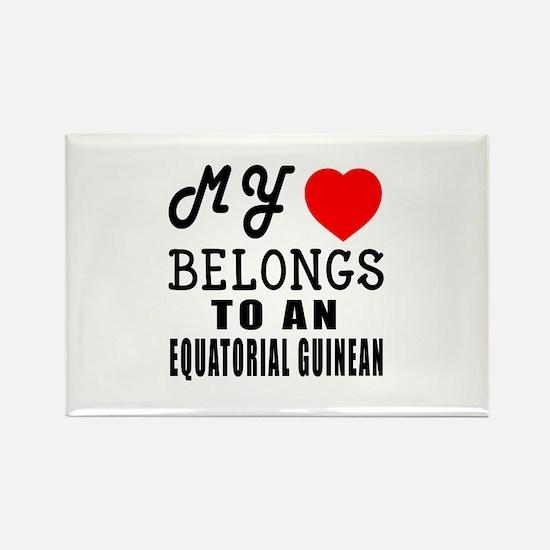 I Love Equatorial Guinean Rectangle Magnet