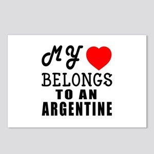 I Love Argentine Postcards (Package of 8)