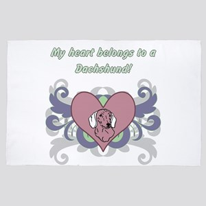 My Heart Belongs..dachshund 4' X 6' Rug