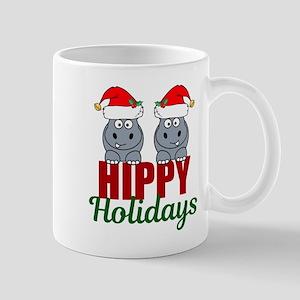 Hippo Holidays 11 oz Ceramic Mug
