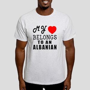 I Love Albanian Light T-Shirt