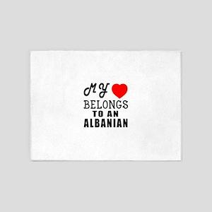 I Love Albanian 5'x7'Area Rug