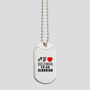 I Love Albanian Dog Tags