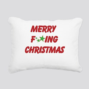 Merry F ing Christmas Rectangular Canvas Pillow
