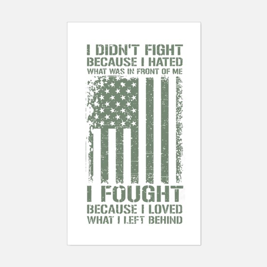 Cute Us army retired Sticker (Rectangle)
