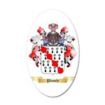 Plumly 20x12 Oval Wall Decal