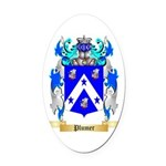 Plumer Oval Car Magnet