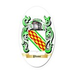 Plume Oval Car Magnet