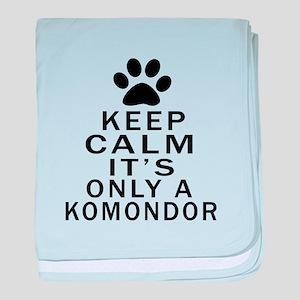 Komondor Keep Calm Designs baby blanket