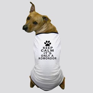 Komondor Keep Calm Designs Dog T-Shirt