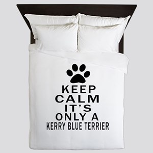 Kerry Blue Terrier Keep Calm Designs Queen Duvet