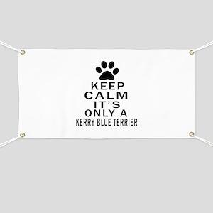 Kerry Blue Terrier Keep Calm Designs Banner