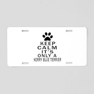 Kerry Blue Terrier Keep Cal Aluminum License Plate
