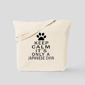 Japanese Chin Keep Calm Designs Tote Bag