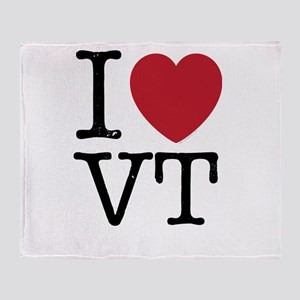 I Heart VT Vermont Throw Blanket