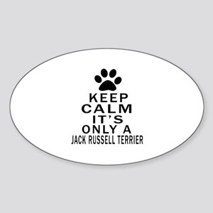 Jack Russell Terrier Keep Calm Desi Sticker (Oval)