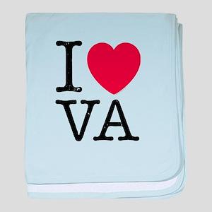 I Love VA Virginia baby blanket