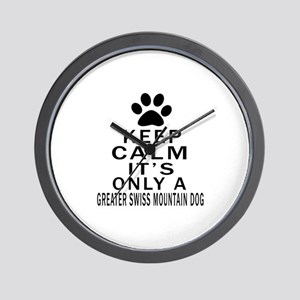 Greater Swiss Mountain Dog Keep Calm De Wall Clock