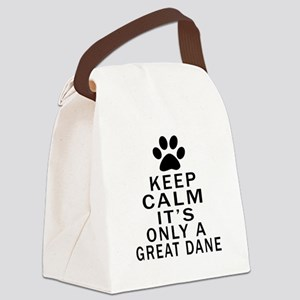 Great Dane Keep Calm Designs Canvas Lunch Bag