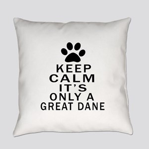 Great Dane Keep Calm Designs Everyday Pillow