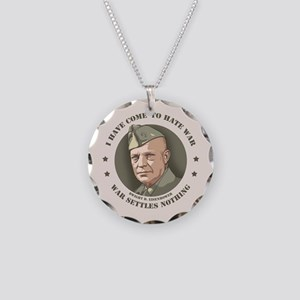 Eisenhower -War Necklace Circle Charm