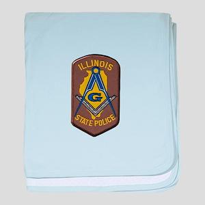 Illinois State Police Freemason baby blanket