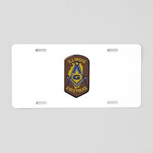 Illinois State Police Freemason Aluminum License P