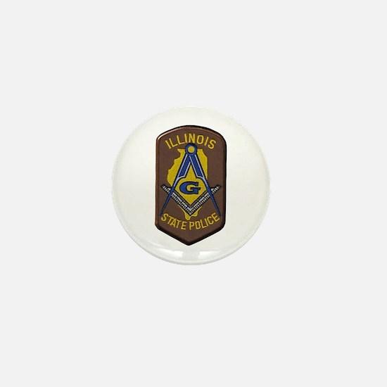 Illinois State Police Freemason Mini Button