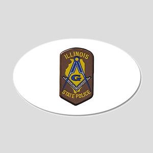 Illinois State Police Freemason Wall Decal