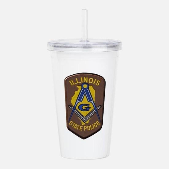 Illinois State Police Freemason Acrylic Double-wal