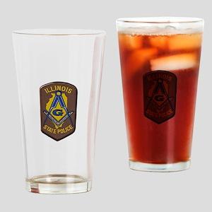 Illinois State Police Freemason Drinking Glass