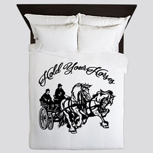 Hold Your Horses Queen Duvet