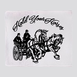 Hold Your Horses Throw Blanket