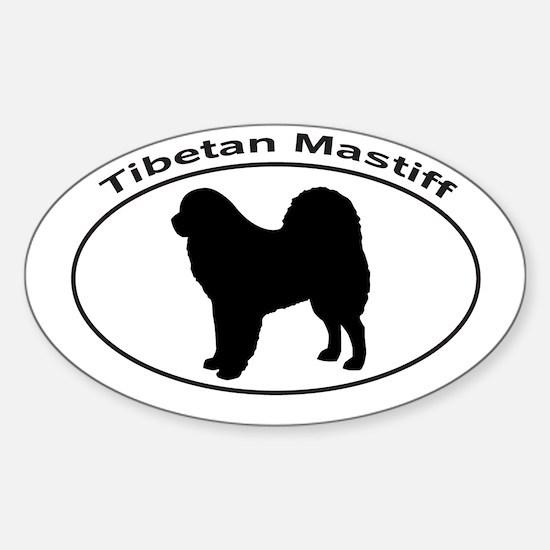 TIBETAN MASTIFF Sticker (Oval)