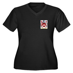 Ployd Women's Plus Size V-Neck Dark T-Shirt