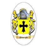 Plowright Sticker (Oval 50 pk)