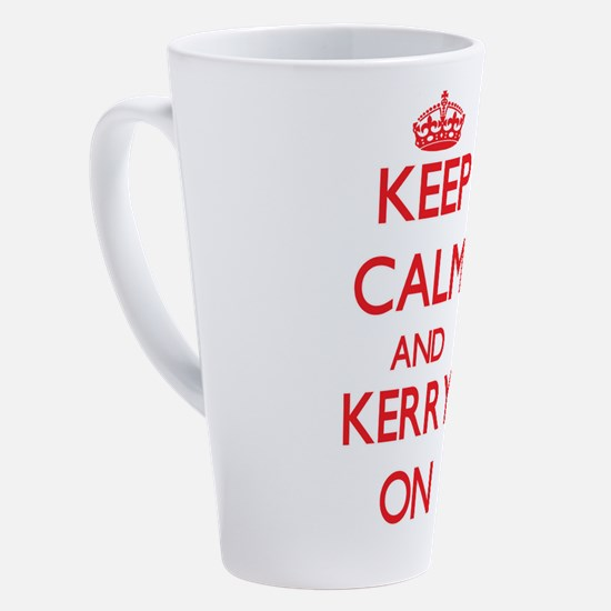 Unique I love kerry 17 oz Latte Mug