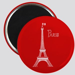 EIFFEL TOWER RED WHITE 1 Magnets