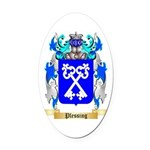 Plessing Oval Car Magnet