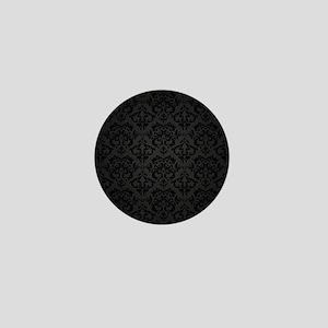Elegant Black Mini Button