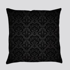 Elegant Black Everyday Pillow