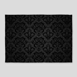 Elegant Black 5'x7'Area Rug
