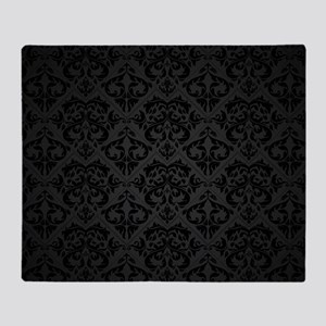 Elegant Black Throw Blanket