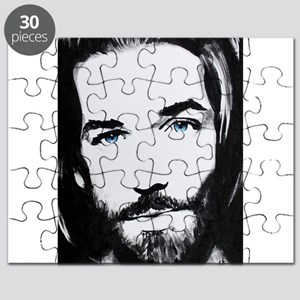 """""""Follow Me"""" Look into the eyes of Jesus Puzzle"""