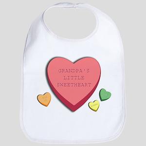 """Grandpa's Little Sweetheart"" candy hearts Bib"