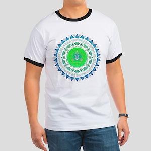 Everything mandala - 3rd eye, blue and gre T-Shirt